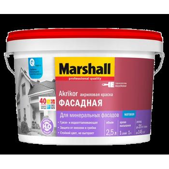 Краска Marshall Akrikor Фасадная акриловая мат BW 9л