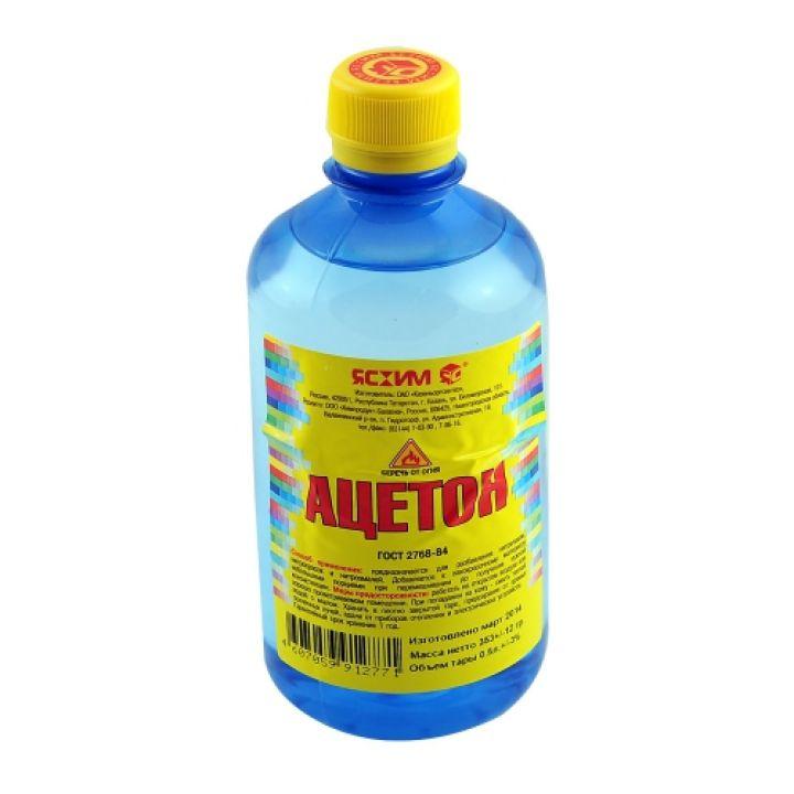 Ацетон, 0.5 л Ясхим / упаковка - 25 шт. (4607059910098)